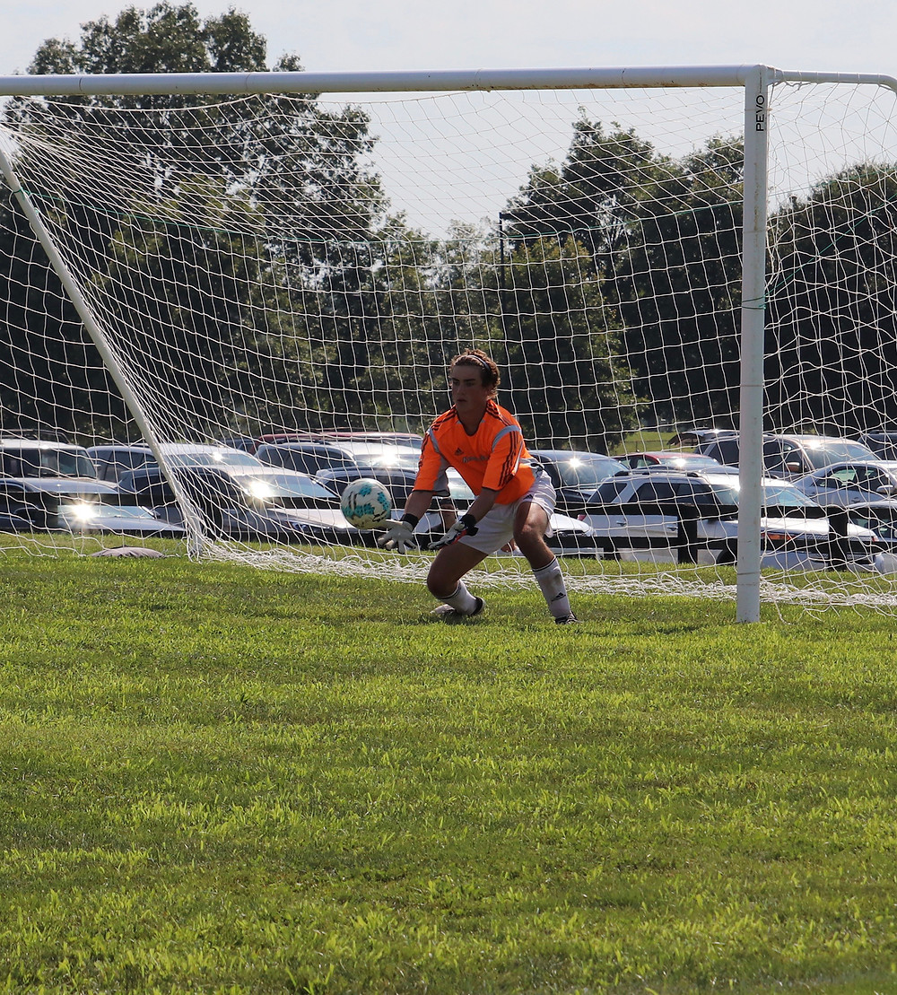 GOALKEEPER CONNOR WALSH will be a key player for Woodford County this season according to Coach Fonyam Atanga. The WCHS senior tallied six shutouts as the Yellow Jackets' last line of defense in 2018. (Photo by Thomas Mims)