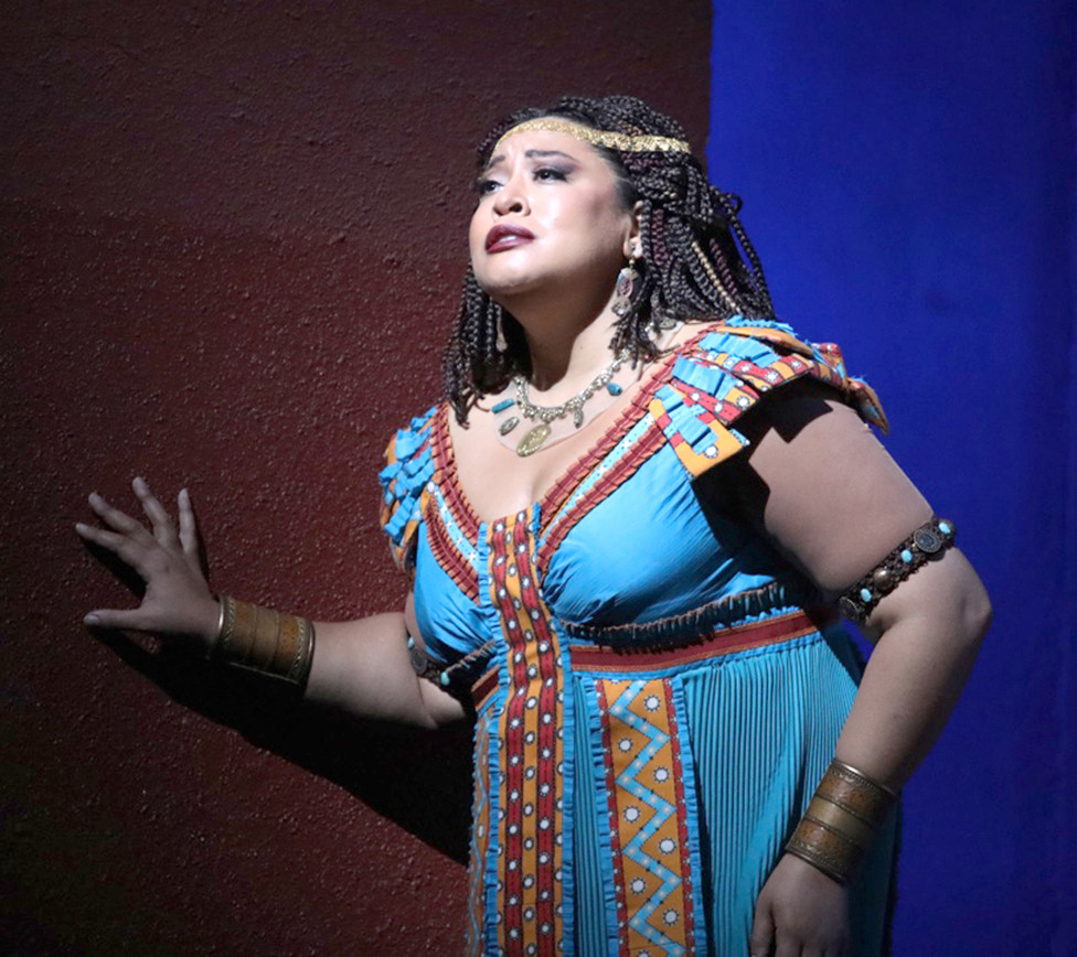 """TAMMIE MICHELLE BRADLEY portrayed the lead role in """"Aida"""" at the San Diego Opera in October 2019. She'll leave Versailles in September to perform in """"Aida"""" again at the National Theatre in Prague, capital of the Czech Republic. (Photo by Edward Wilensky)"""