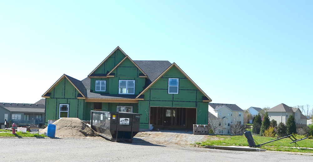HOMES ARE BEING BUILT in the Cedar Ridge and Rose Ridge subdivisions, but few other platted lots are available for home construction in other neighborhoods in Woodford County. (Photo by Bob Vlach)