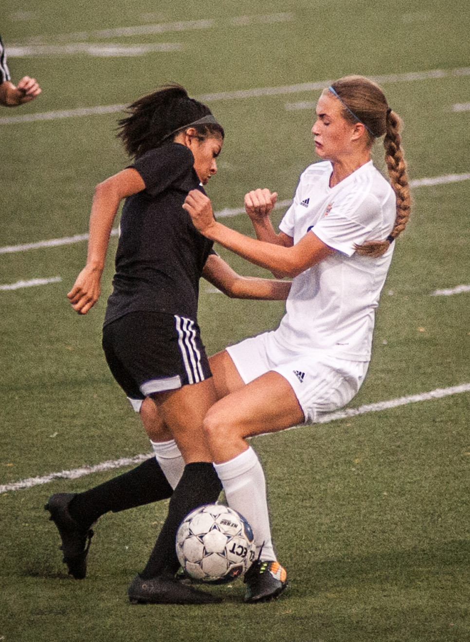 JAYLYNN MURILLO collides with a Henry Clay forward. (Photo by Bill Caine)
