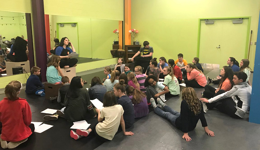 """A NEW CLASSROOM SPACE for Woodford Theatre's education programs was a huge accomplishment for the nonprofit. """"…There's no reason to have a community theatre if it's not as much education as it is performance because that's your future,"""" said Executive/Artistic Director Trish Clark. (Woodford Theatre photo)"""
