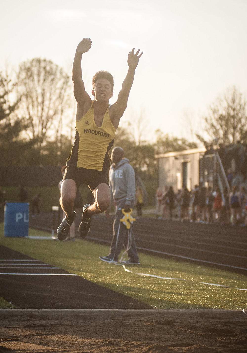WCHS JUNIOR JORDAN UPTON won the boys' triple jump at the Dunbar All-Comers meet and The Newport River City Classic. (Photo by Bill Caine)