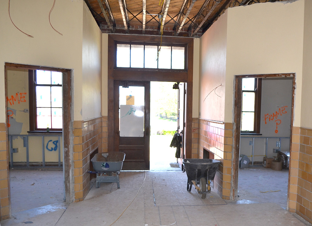 A ROOM NEAR THE MAIN ENTRANCE of Versailles School Apartments will become an office for its manager. Former classrooms are being converted into one-, two- and three-bedroom apartments in a South Main Street building formerly occupied by the Woodford County Community Education Center and Versailles Elementary School. (Photo by Bob Vlach)