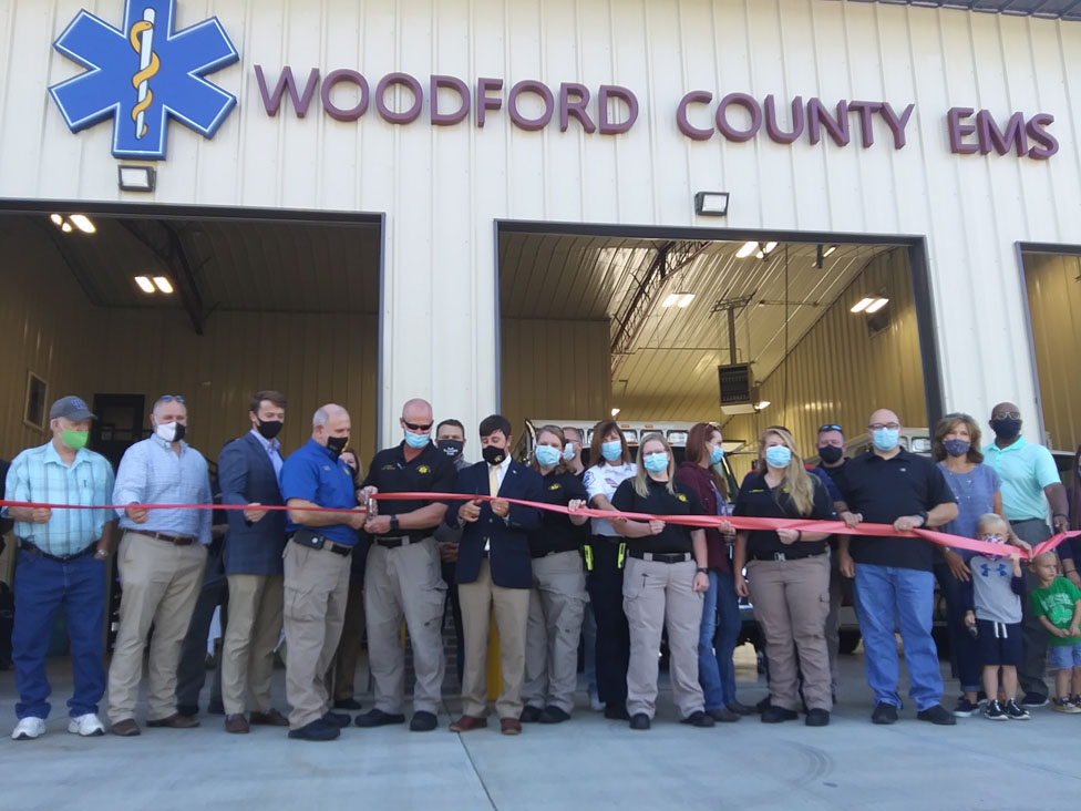 Woodford EMS ribbon-cutting