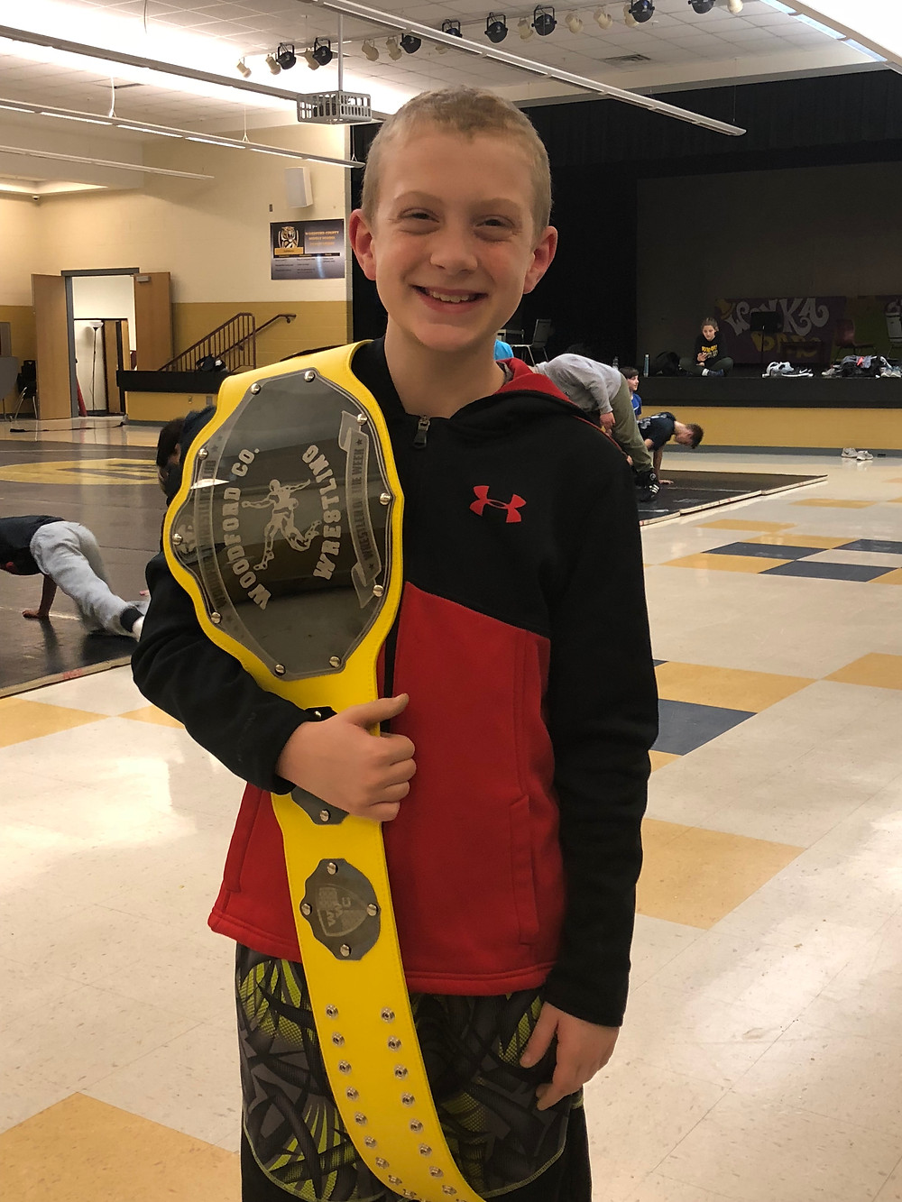 ELIAS TACKETT was named the Woodford Wrestling Club's Wrestler of the Week for his performance at the Anderson County meet. (Photo submitted)