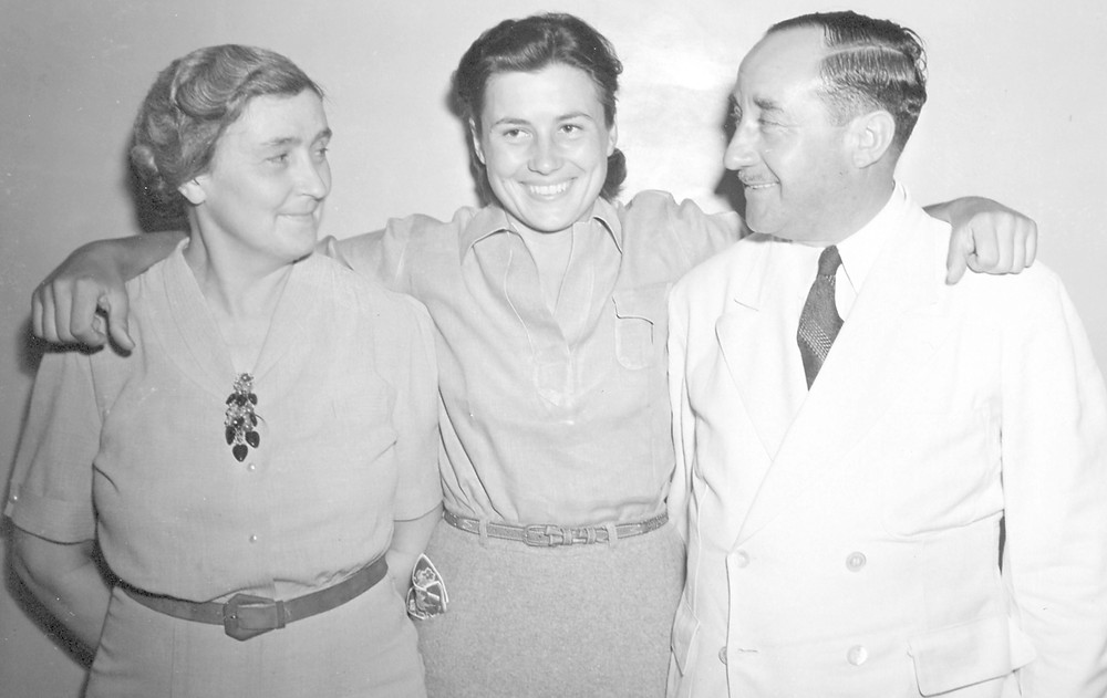 MARION MILEY, pictured with her parents, was murdered at the Lexington Golf Club in September 1941. Independent writer, producer and director Beth Kirchner documented the 27-year-old golfer's life and tragic death in a documentary nominated for an Ohio Valley Regional Emmy Award. (Photo submitted)