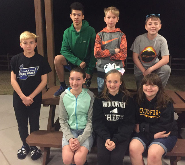 4-H members from Woodford County pose for a picture at Jekyll Island 4-H Center.  Pictured are Ashlynn Gampper, Delano Mullins, Zach Pantaliono, Bruce Walton, Trevor Varner, Gillian Brown and Reida Harrod. (Photo submitted)