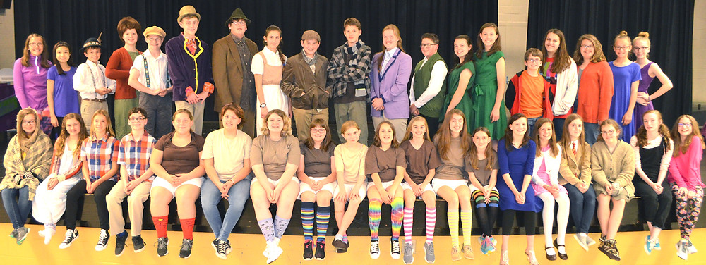 """THE CAST OF """"WILLY WONKA' will give performances on Friday, May 19, and Saturday, May 20, at 7:30 each night in the WCMS cafeteria. Tickets are $5 for adults and $3 for students. (Photo by Bob Vlach)"""