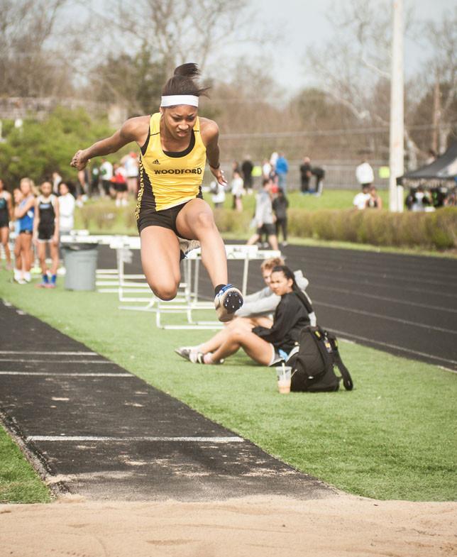 WCHS SENIOR KAMARI BLACK won both the long jump and triple jump at the Class 3A Region 6 meet May 24. (File photo by Bill Caine)