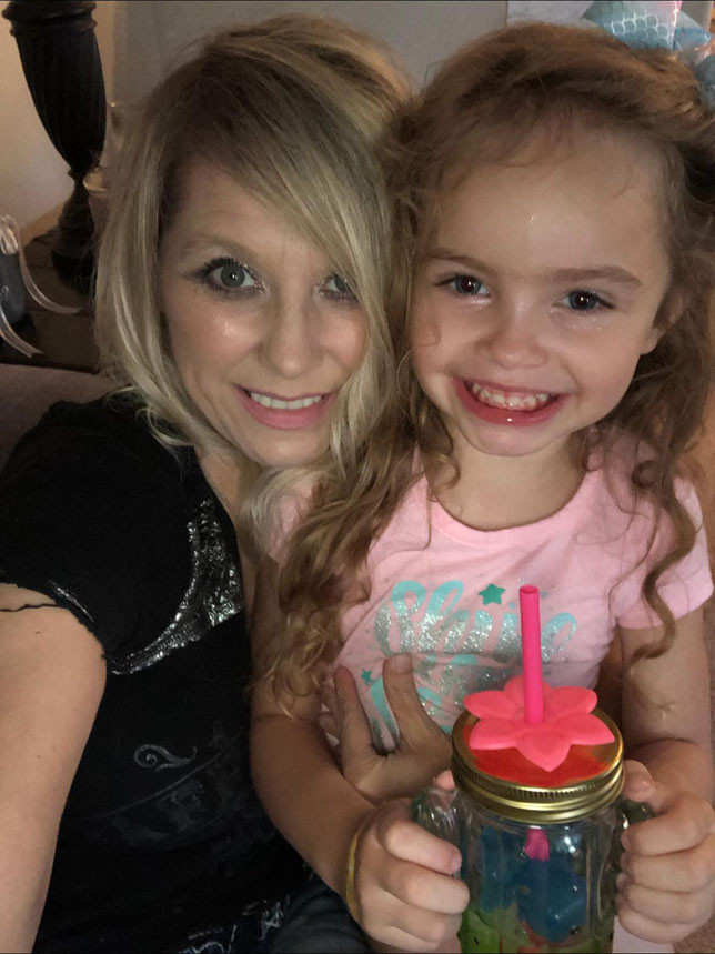 """MELISSA WATTS and her sister, Angela Blackburn (not shown here) are raising Emma, 5, who is Melissa's granddaughter. One of the reasons Melissa wanted to talk about Emma – who calls her """"Gimme"""" – is to spread awareness of the challenges faced by autistic children and their caregivers. (Photo by Angela Blackburn)"""