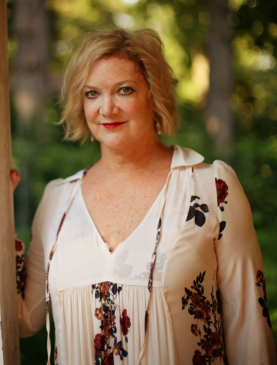 """ERIN CHANDLER, the author of the recently published """"June Bug Versus Hurricane"""" is the granddaughter of A.B. """"Happy"""" Chandler. The actress, writer and producer said she's glad to be back in her hometown. (Photo by Erica Chambers)"""