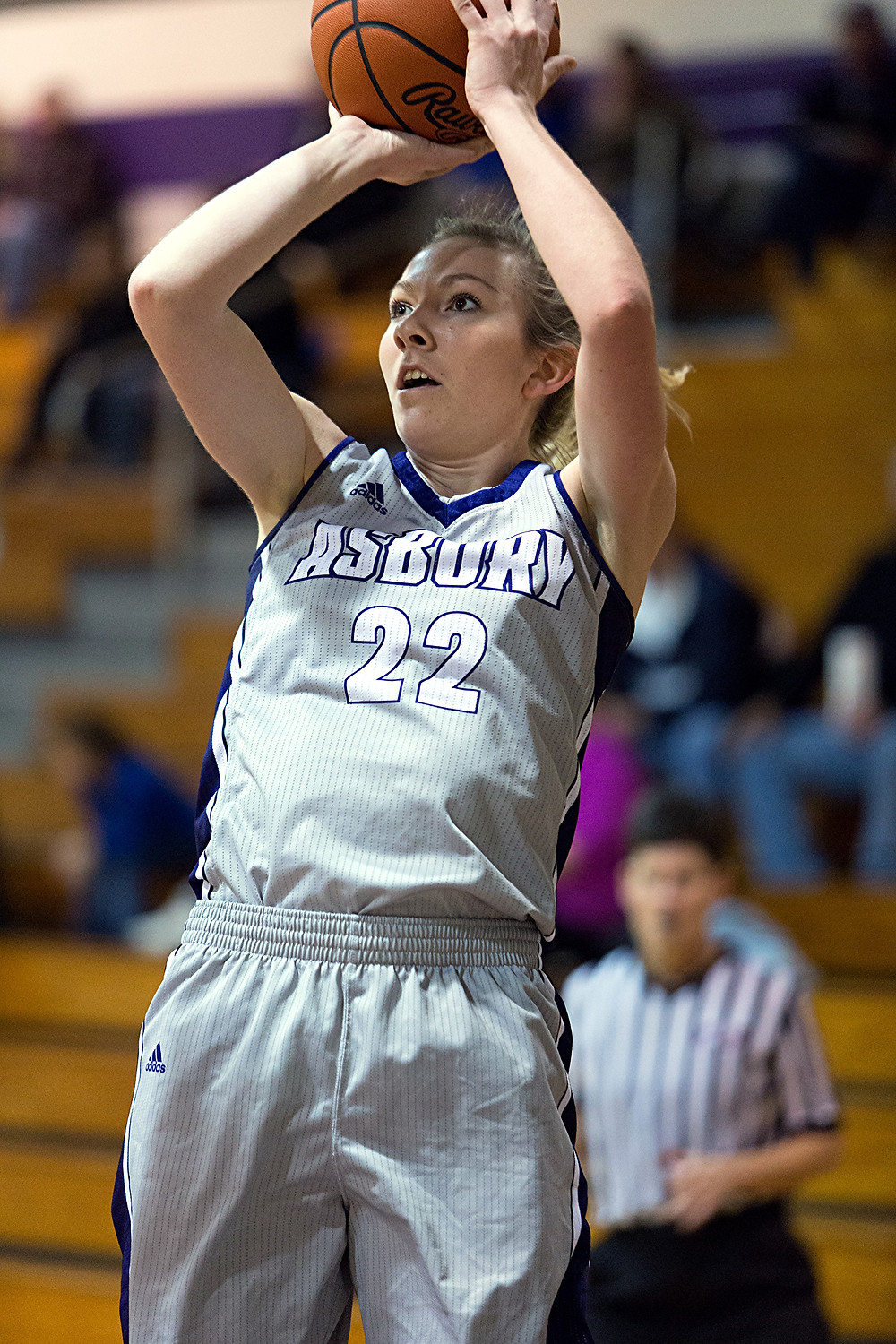 CATIE FLETCHER, a former Woodford County High School girls' basketball player, scored 30 points to help lead Asbury University to an 87-82 overtime win over Indiana-University East on Tuesday, March 1, to capture its second-consecutive KIAC title. (Photo courtesy of Asbury University)