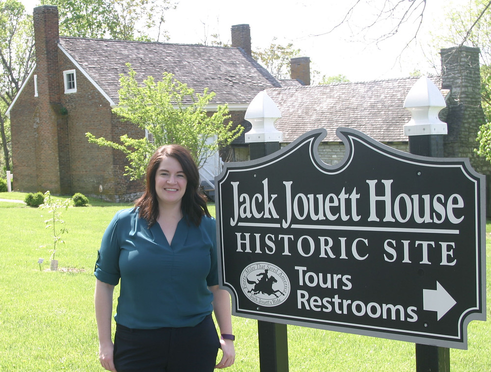 JILL ROSEBERRY, 29, is the new executive director of the Jack Jouett House. Roseberry moved to Versailles with her family when she was seven months old. (Photo by John McGary)