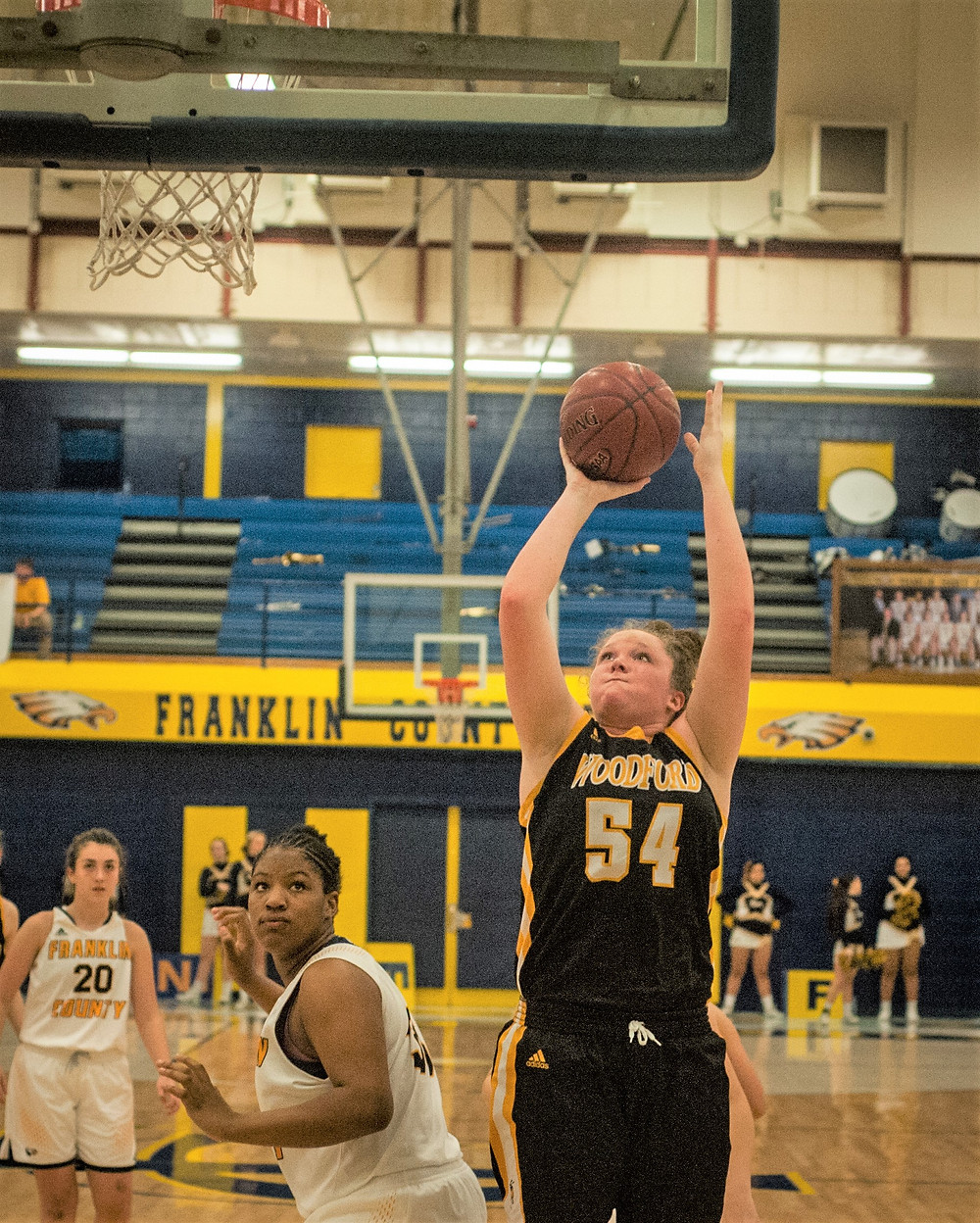 WCHS JUNIOR DELANEY ENLOW hopes to continue her success in the paint this season. She scored 16 points a game last season. (File photo by Bill Caine)
