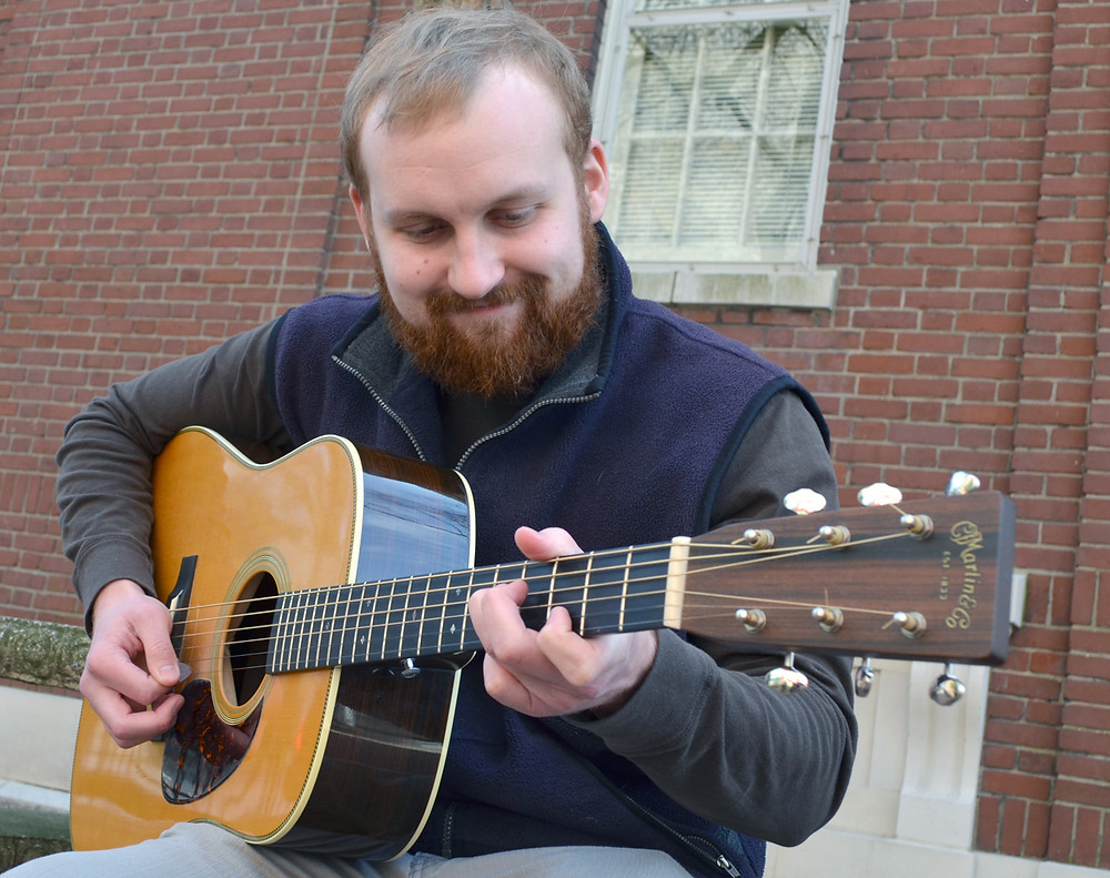 WILL PADGETT has been playing guitar since third grade. No matter where life may take him in the coming years, he'll keep playing music. (Photo by Bob Vlach)