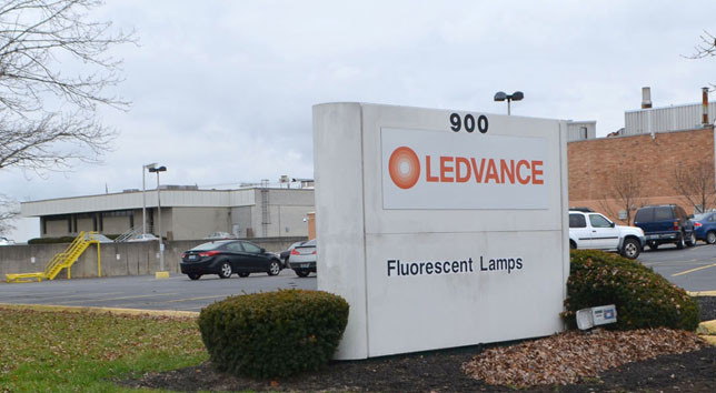 """LOCAL LEADERS THOUGHT LEDVANCE still employed more than 500 people until the company's plant closing announcement last week revealed a total of 360 workers. A LEDVANCE spokesman acknowledged that """"adjustments"""" have been made throughout the years. (Photo by Bob Vlach)"""