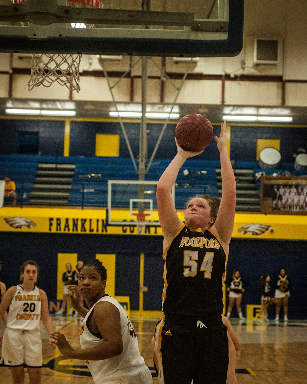 WCHS SOPHOMORE DELANEY ENLOW scored her 1,000th point on Thursday, Jan. 11 at Franklin County High School. Enlow is averaging 15 points per game this season for the Lady Jackets. (Photo by Bill Caine)