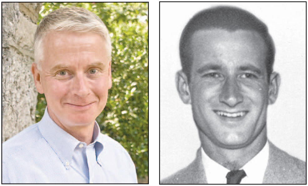 KEVIN DEARINGER, above, left, will speak today, Thursday, March 23, during a dedication program and exhibition of the John Arthur Dearinger Memorial Theatre Collection, which honors the memory of his father, pictured at right. The collection celebrates the history of American theater. (Photos submitted)
