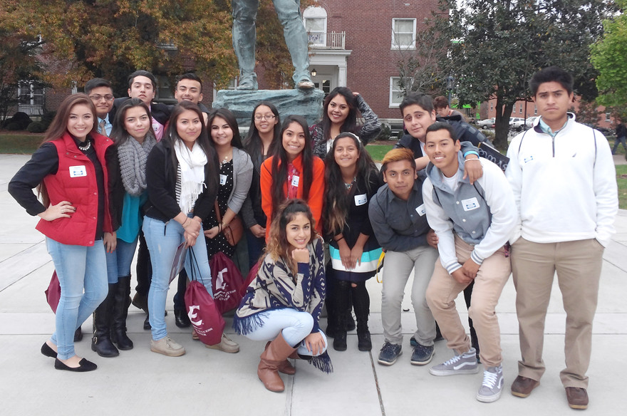 WCHS STUDENTS attended the 11th annual Latino College Fair at Eastern Kentucky University earlier this year. Pictured in front is Jessel Martinez; from left, middle, are Estrella Ochoa, Maira Morales, Karina Morales, Marly Maristany, Welsy Discua, Marlene Pelayo, Jazmin Reyes, Gerardo Garcia, Jose Caloca and Jose Chavez; in back, are Antonio Disciplina, Tadeo Juarez, Alfonso Morales, Monse Garcia and Cristian Santillan. (Photo submitted)