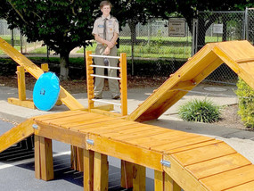 Giving back to community with their Eagle Scout projects