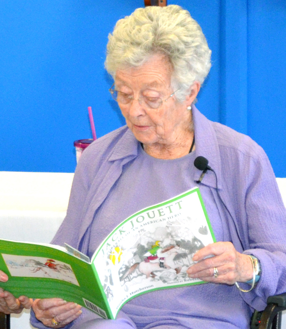 "MARTHA J. HUTCHERSON read ""Jack Jouett: Portrait of an American Hero"" to other residents of Daisy Hill Senior Living Community last Thursday, Sept. 22. Hutcherson says she remembers having ""a really good time"" researching Jouett's life before writing his story of heroism. (Photo by Bob Vlach)"