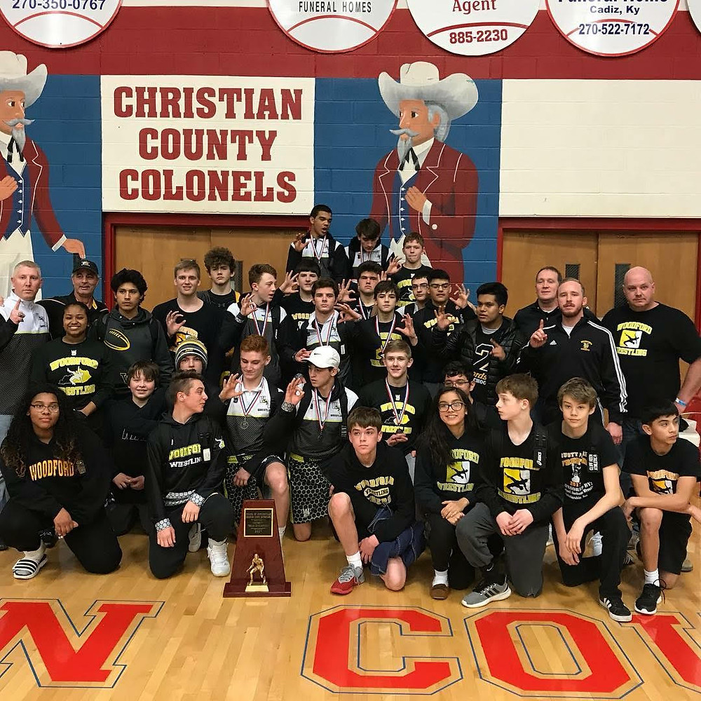 THE WCHS WRESTLING TEAM won the Christian County Invitational on Saturday, Dec. 23. The Jackets had five first place finishers and twelve top five placers in the tournament. (Photo submitted)