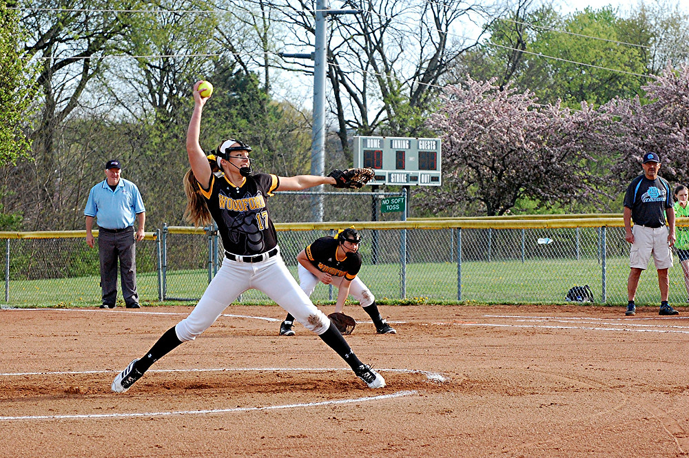 BETHANY TODD will be one of the players to watch on this year's Woodford County High School softball team, as she will lead one of the strongest pitching squads in the state. (Photo by Rick Capone)
