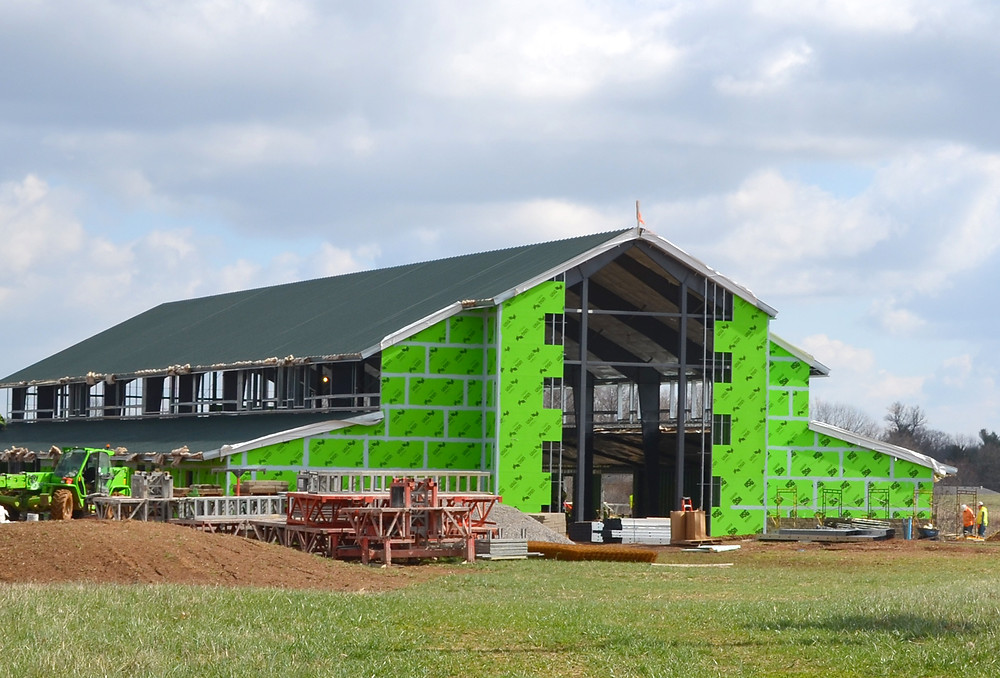 VERSAILLES UNITED METHODIST CHURCH will likely start having Sunday morning services at its new Family Life Center multipurpose building at the corner of Paynes Mill and Lexington roads in late August or early September, according to senior pastor Tim Thompson. (Photo by Bob Vlach)