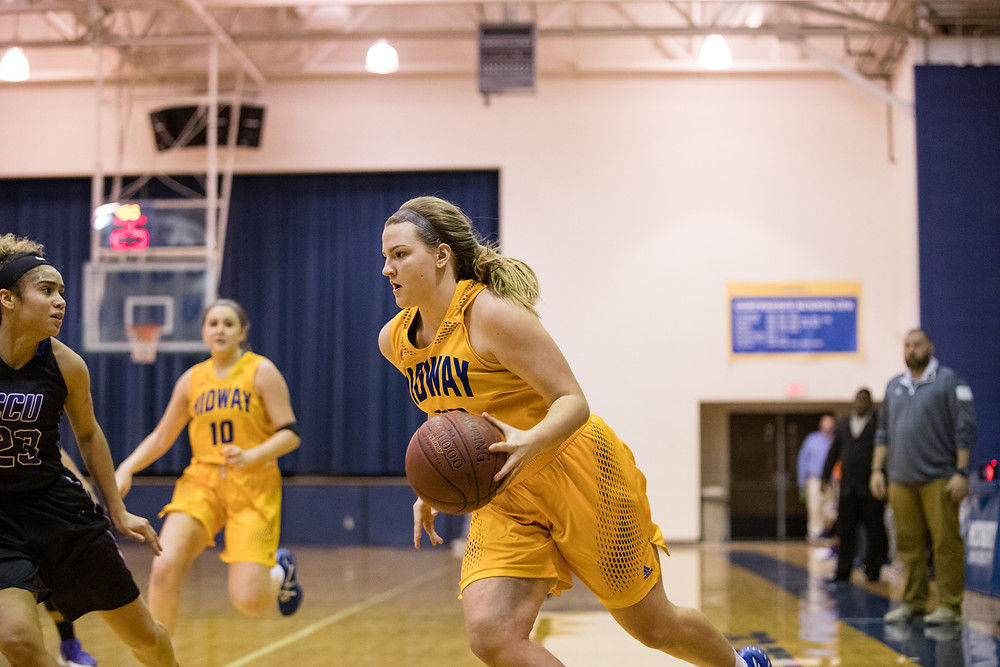 ALLYSON CALLAHAN, a freshman from Morehead, Ky., was named to the River States Conference Women's Basketball Champions of Character team last week. (Midway Athletics photo)