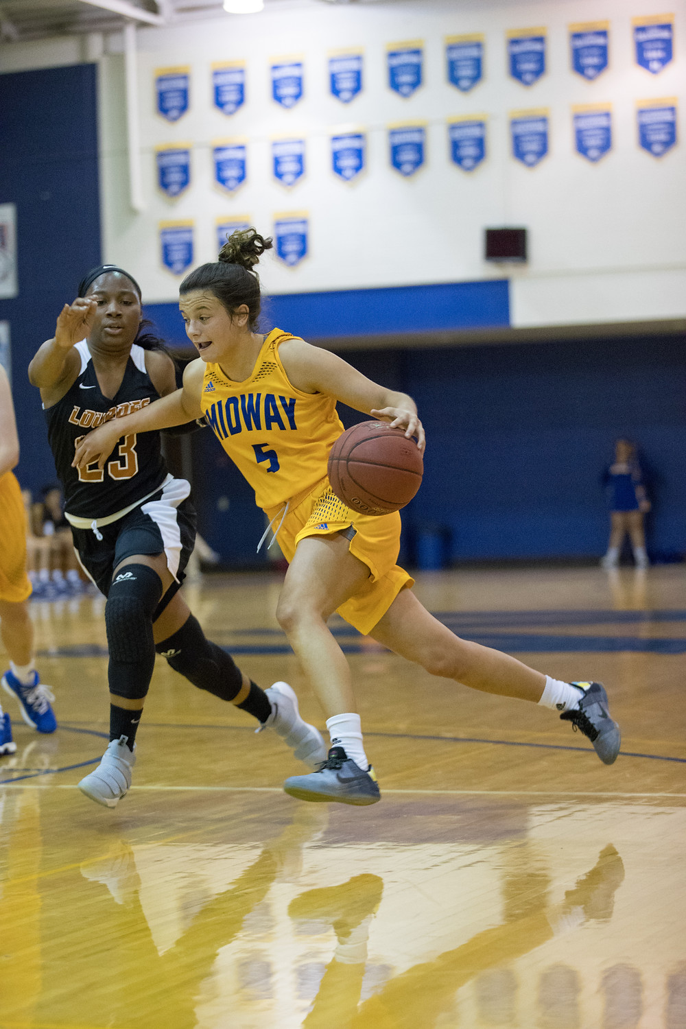 HALEIGH YAZELL, a sophomore from Paris, Ky., hit 6-of-9 from the three point line to lead Midway with 21 points in their 69-53 victory over Asbury University last Saturday