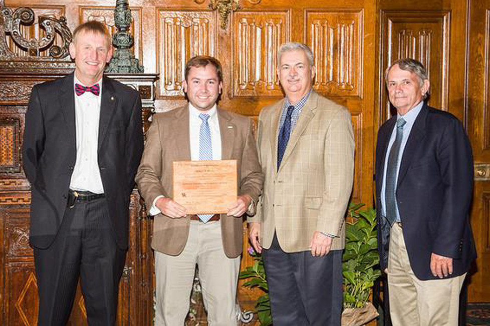 FROM LEFT are Dr. Will Snell, KALP co-director; Willie Wilson KALP Class XI graduate; Dr. Gary Palmer, University of Kentucky associate dean for Extension; and Dr. Steve Isaacs, KALP co-director. (Photo by Steve Patton, UK College of Agriculture, Food & Environment)