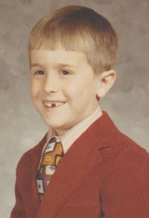 YOUNG VIKINGS FAN: About the time this picture was taken, the writer became a Minnesota Vikings fan. It's unknown whether the missing tooth involved a fist belonging to a fan of another team. Today, he has all his teeth, and his favorite team is one win away from the Super Bowl. (Photo submitted)