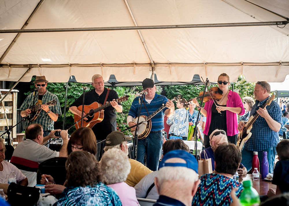 BLUEGRASS MUSIC filled the air of the Midway Fall Festival on Saturday, Sept. 16. (Photo by Bill Caine)