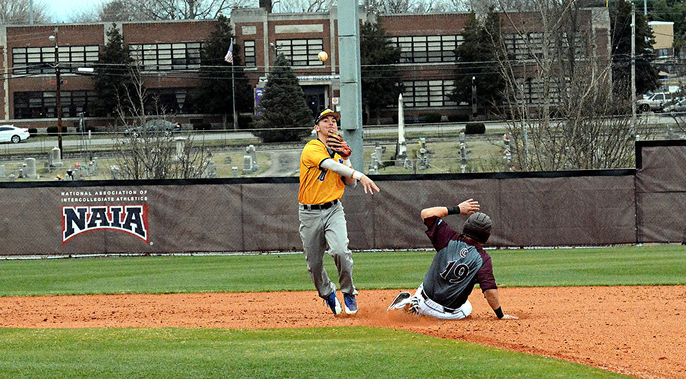MATTHEW OLSON, a member of the Midway University baseball team, delivered for the Eagles when he ripped a walk-off double in Midway's 3-2 victory over Olivet Nazarene University on Saturday, Feb. 25. (Photo courtesy of Midway Univ. Athletics)