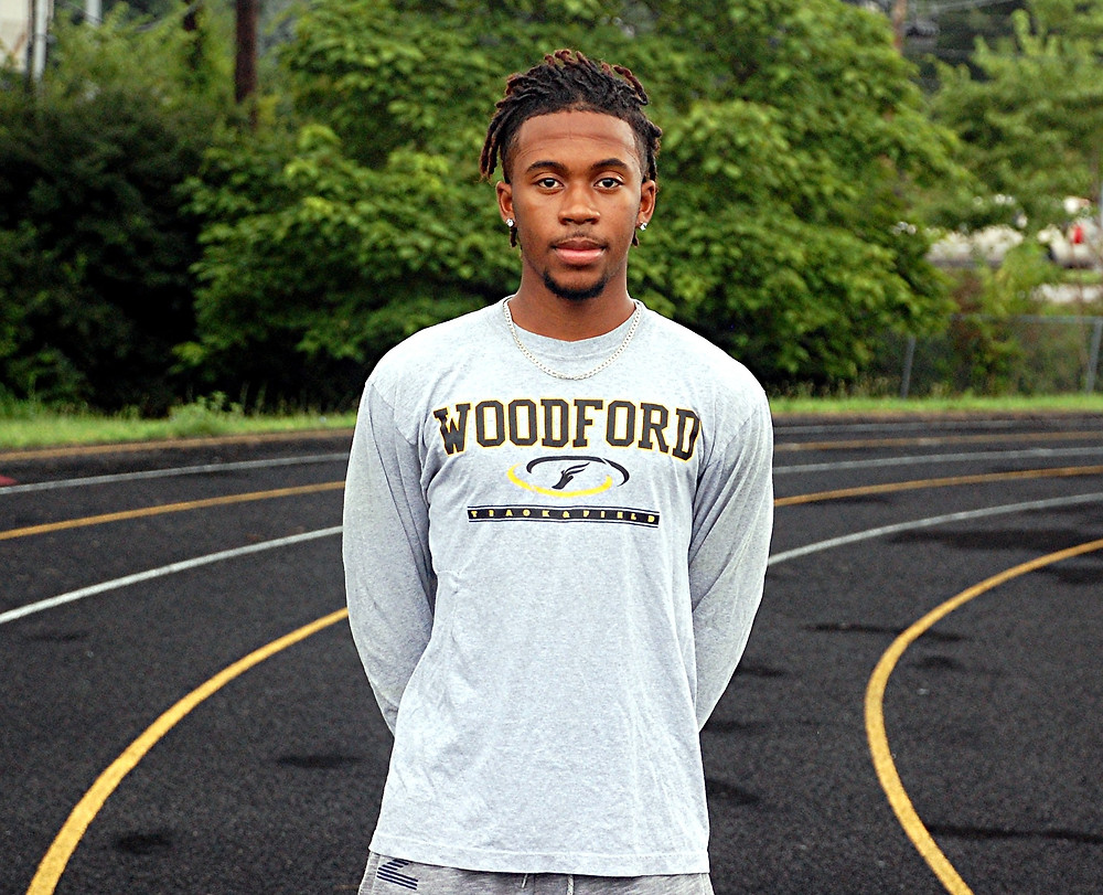 "DWAYNE ""D"" DEPP, a senior member of the Woodford County High School track team, had a summer to remember, as he captured two gold medals and one silver medal at the Down Under Sports International Track Meet, which was held in Brisbane, Australia, July 3 to July 12. (Photo by Rick Capone)"