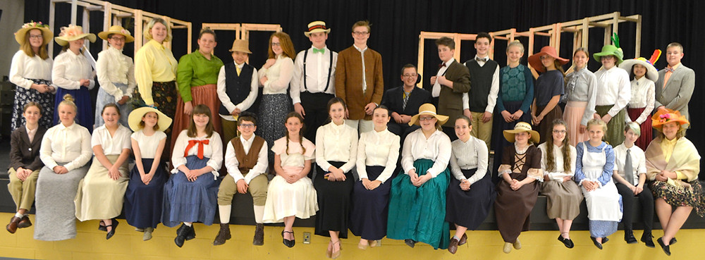 THE MUSIC MAN was double-cast for performances on Friday, May 18 and Saturday, May 19 at Woodford County Middle School. (Photo by Bob Vlach)