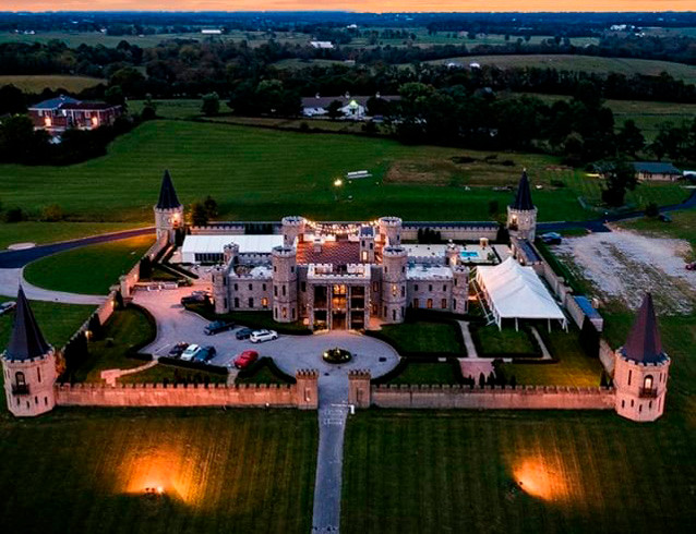 THE KENTUCKY CASTLE will be the site of the 2019 Woodford County High School prom, with the dance and most of activities taking place in the greenhouse behind and to the left of the castle. (Photo courtesy The Kentucky Castle)