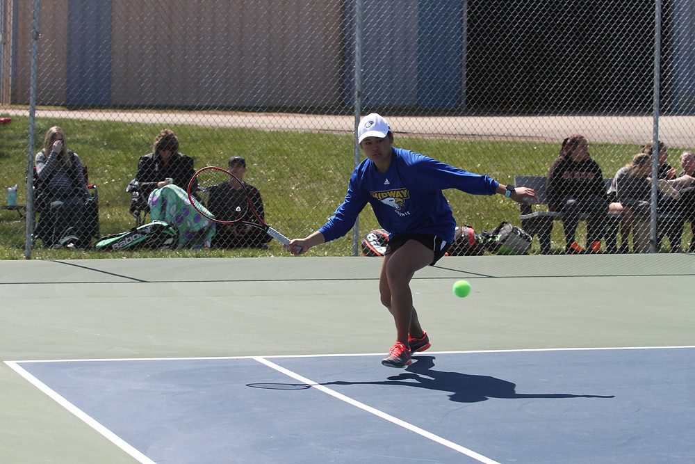 ANNETTE TRAN, a freshman from Austin, Texas, won both her doubles match and her singles match against Ohio Christian University. She teamed with Erin Byassee and won at No. 2 doubles and followed that up with a straight set victory at No. 2 singles as part of the 6-0 victory.