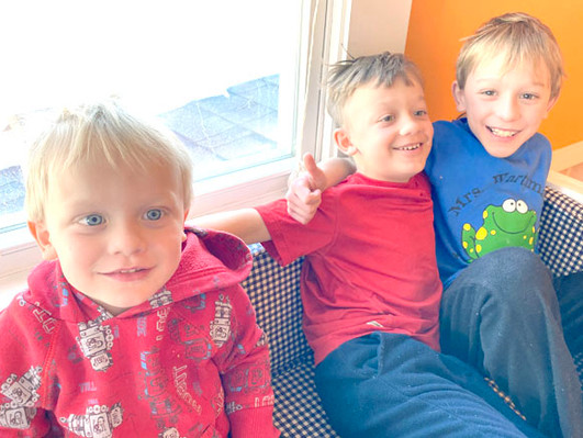 Bowers family chooses virtual learning for young sons
