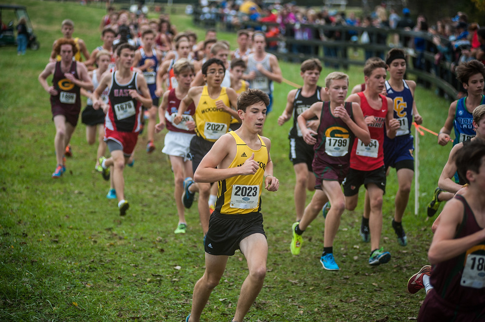 KYLE HOLT finished 25th in the boys' varsity 5K Sept. 22 in the 20th annual HillBilly Run in Bardstown. (File photo by Bill Caine)