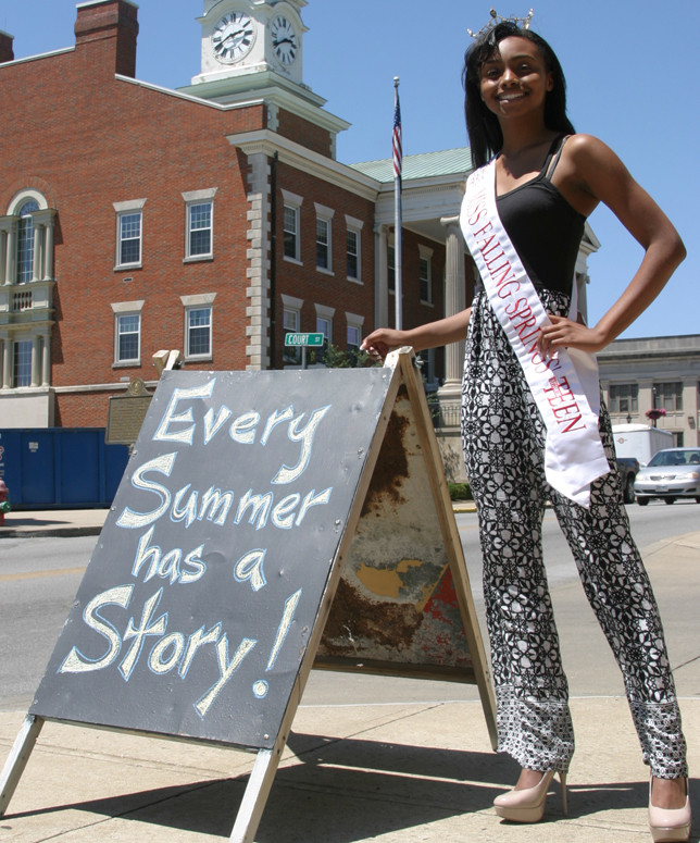 JAIDAH SPAULDING'S summer story includes meeting idol Vanessa Williams on live television. The Miss Falling Springs Outstanding Teen will be back in the Big Apple in September for New York Fashion Week. (Photo by John McGary)