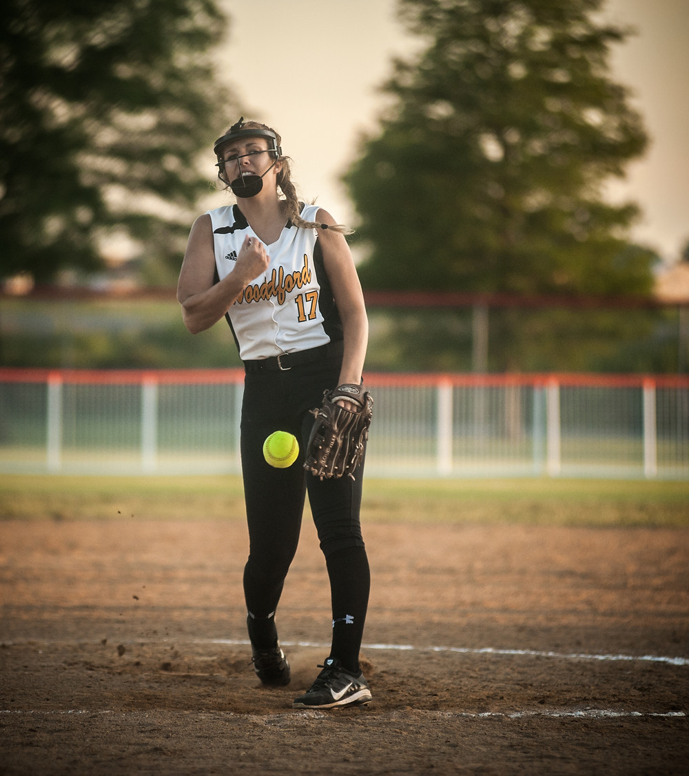 Senior Bethany Todd throws a pitch in the first inning of state play.