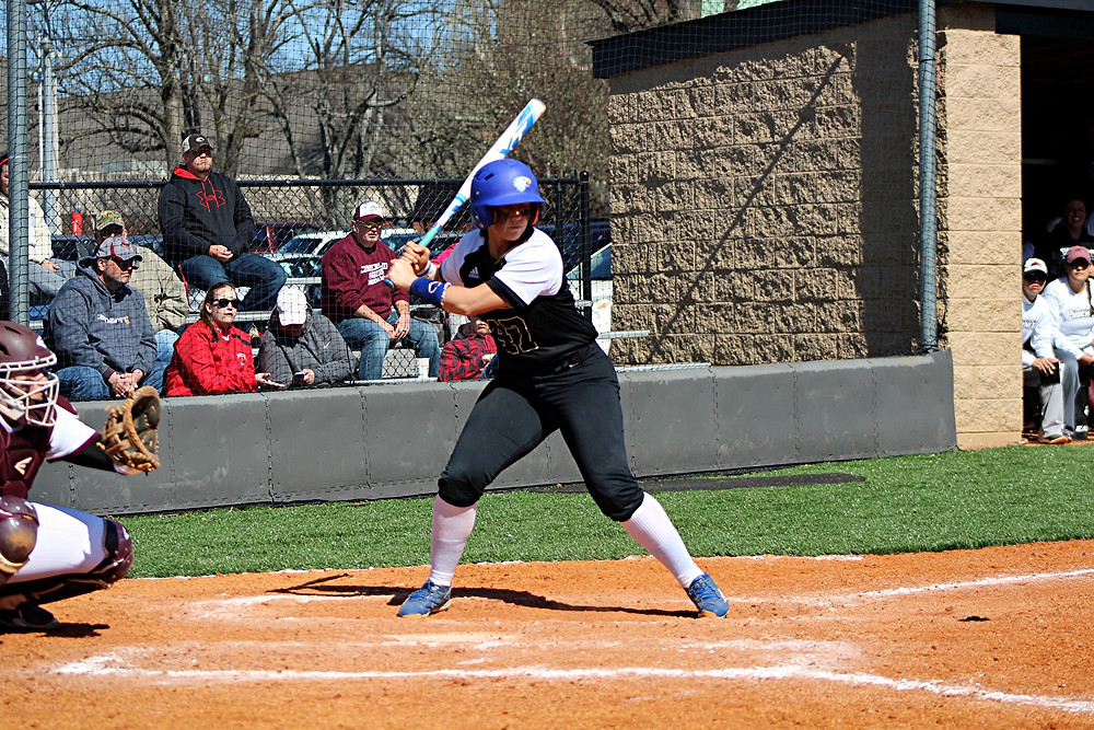 KELSEY GRAVENS, a junior on the Midway University softball team, was named both the River States Conference Softball Player of the Week and the NAIA National Softball Player of the Week for her performances on the field the week of March 27 to April 2. (Photo courtesy of Midway Athletics)