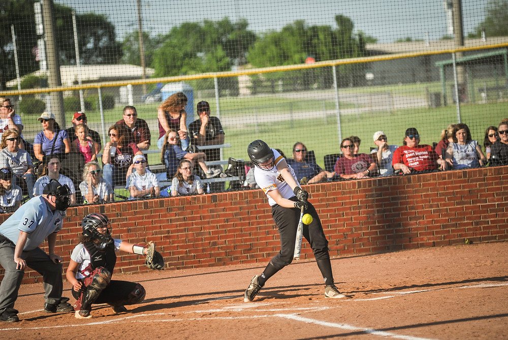 WCHS SOPHOMORE DELANEY ENLOW hit her 10th home run of the season on Friday, May 10 in a win over Tates Creek. (Photo by Bill Caine)