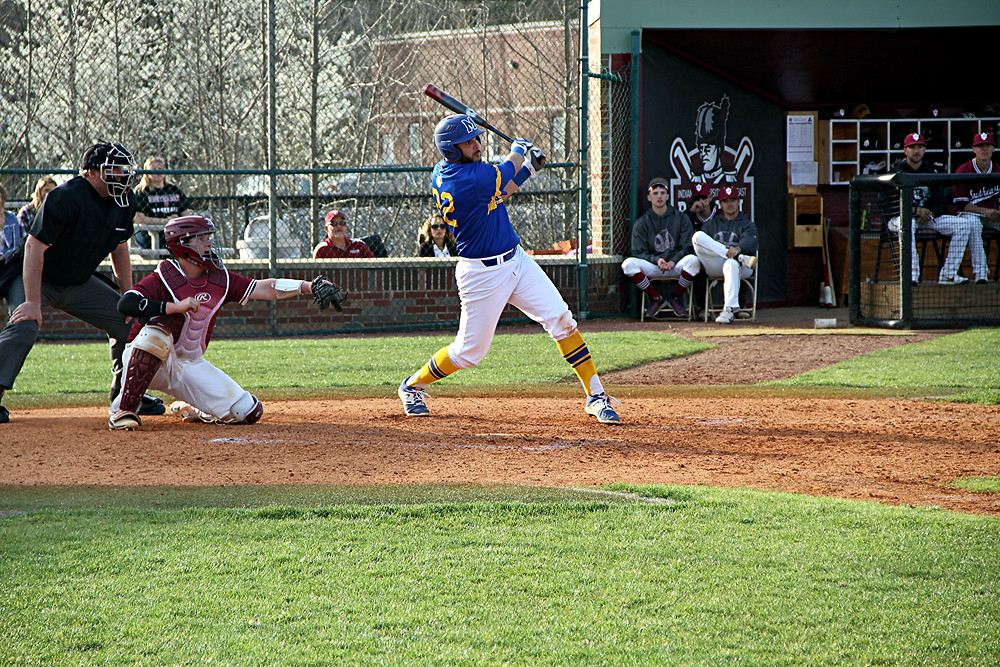 HECTOR QUINONES, a senior on the Midway University baseball team, made two kinds of history on Saturday, March 18, against Ohio Christian University. Quinones hit the first-ever grand slam in Midway baseball history, while also throwing a no-hitter in the same game. (Photo courtesy of Midway Univ. Athletics)