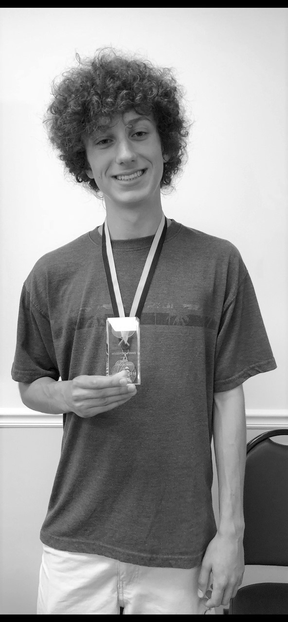 WCHS SOPHOMORE JOE KOWALKE won the boys' academic award at the WCHS tennis banquet May 25. (Photo submitted)