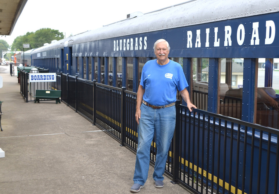 JOHN PENFIELD, executive director of the Bluegrass Railroad Museum, said a lack of volunteers to help with putting on Haunted Halloween Train rides led to a decision to cancel that excursion. He said Pumpkin Patch Trains, other special events and weekend passenger train rides to the Kentucky River are gaining popularity. (Photo by Bob Vlach)