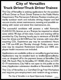 City of Versailles Truck Driver-Street D