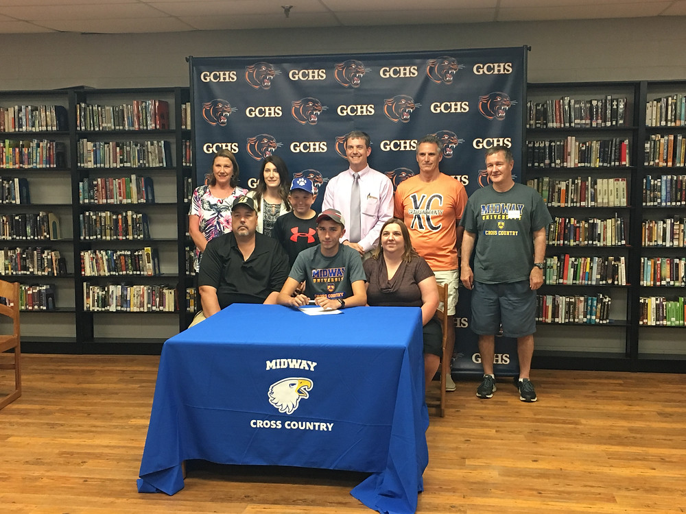 MIDWAY UNIVERISTY announced the signing of Grayson County High School senior Jacob Stinnett to its track and field program. (Midway Athletics photo)