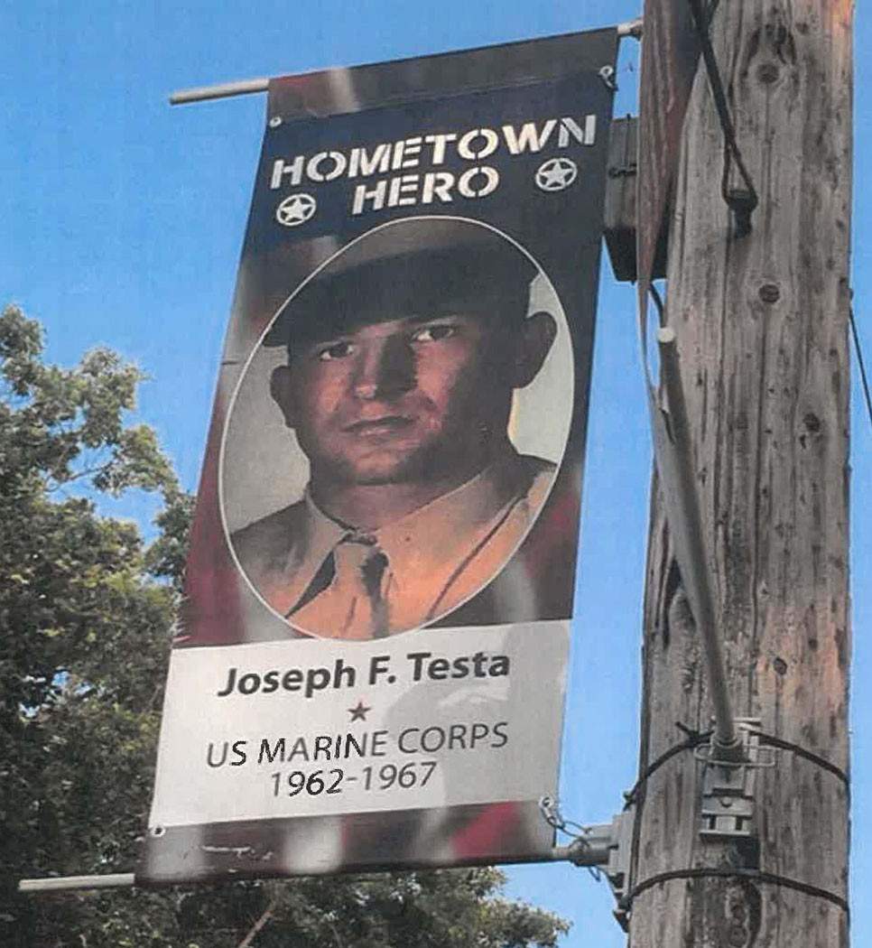 BANNERS HONORING VETERANS like this one will be hung on light poles in downtown Versailles and Midway in 2020, courtesy of an arrangement between American Legion Post 67, which is seeking nominations for the honors, and the mayors of each city. (Photo submitted)
